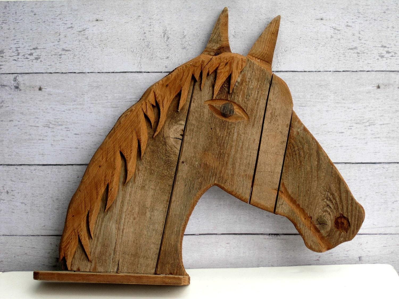 Horse art decor barnwood shelf rustic wood shelf for Barnwood decor
