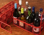 Wine Carrier Upcycled from Vintage Commercial Utensil Wash Rack