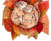 Squirrel Spoon // A5 print