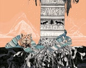 Fox Tree // Signed A4 print