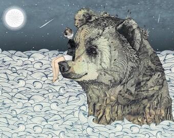 Bear Rock  // A4 Print
