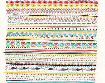 Pattern No.2 // Signed A4 print