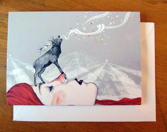 Deer Lady // Greeting Card