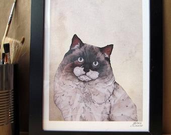 Mr. Ragdoll Cat  // Signed A4 print