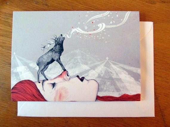Deer Lady // Greeting Card