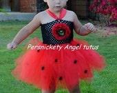 Ladybug Tutu Dress WITH WINGS 0M to 24M