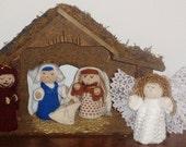 Knitted Nativity, 9 Piece Set