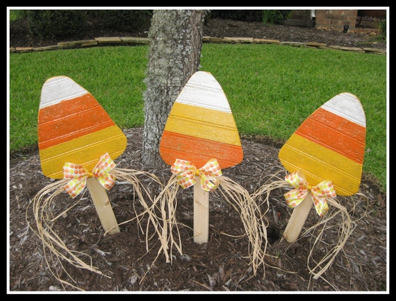 Items Similar To Wood Candy Corn Fall Decoration Yard
