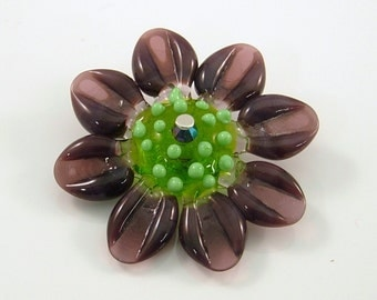 Purple Daisy 2 by Mystic Moon Beads SRA U5