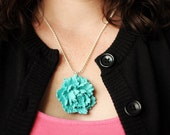 Summer in bloom. A fresh picked large peony flower in your desired color is strung on a sterling silver chain.