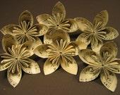 Six Hymnal Origami Flowers