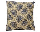 African Wax Print Pillow Cover  (Atu Natural)