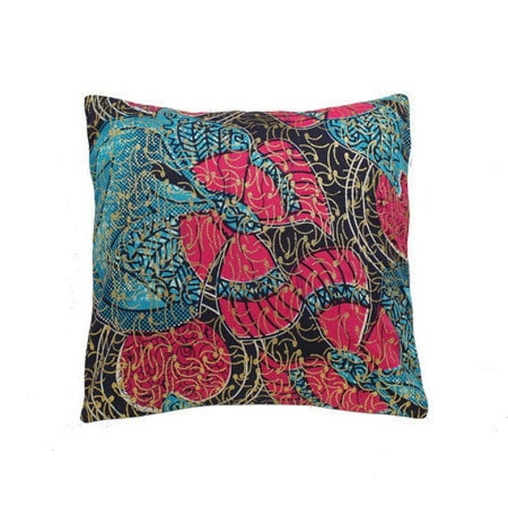 African Wax Print Pillow Cover (Millicent Natural)