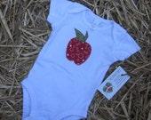 Little Apple Blossom Applique Bodysuit Size 3-6 Months