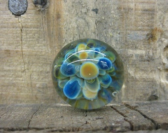 Pyrex glass inset for jewelry Space Lily