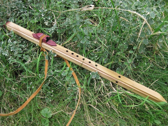 """Native American Style Flute made from poplar & purple heart wood key of """"C"""""""