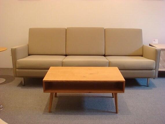Low Mid-Century Modern Coffee Table, White Oak