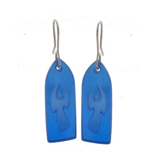 Recycled Glass Angel Earrings