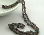 RESERVED For Kristy..........Shongia sapphire & ruby chip beads 2-4mm1/4 strand