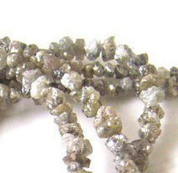 Sparkly Grey rough DIAMONDS 2.5-3mm