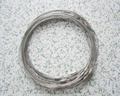 30pcs 18 inch 1mm thickness silver stainless steel round choker necklace wires with screw clasps