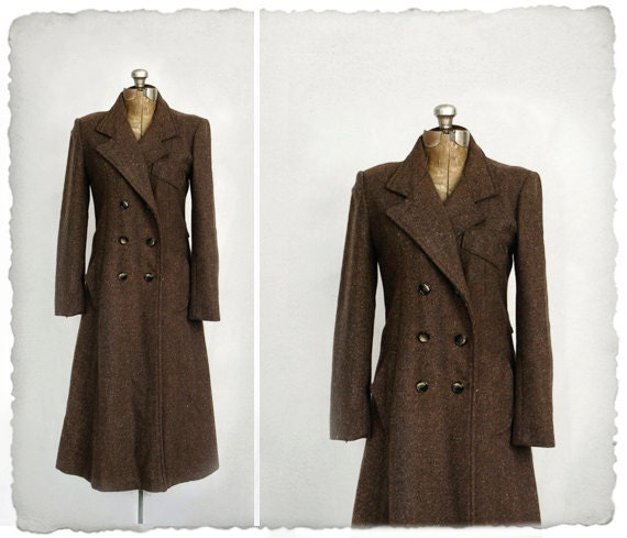 vintage mousy DOUBLE BREASTED trench // princess coat