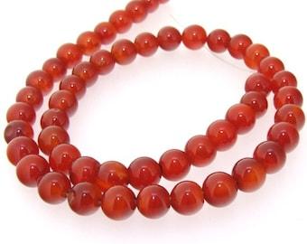 Newest Red Round Agate Gemstone Beads Strand 8mm