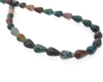 Newest TearDrop Natural Agate Gemstone Beads Strand 8-12mm