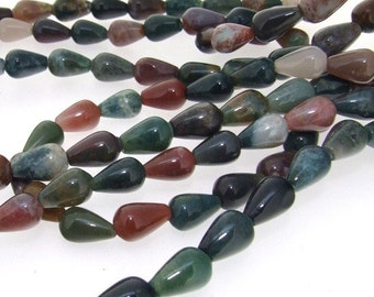 Charm Teardrop Agate Beads Gemstsone Strand 12mm