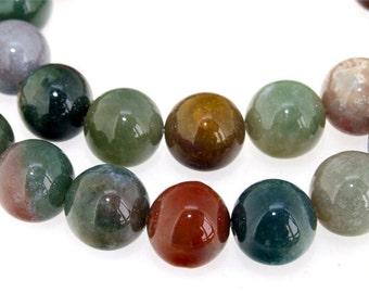 """Charm Agate 14mm Beads Gemstone One Strand  15.5"""""""