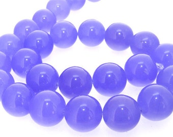 Charm 16mm Big Purple Jade Beads Gemstone Strand 15""