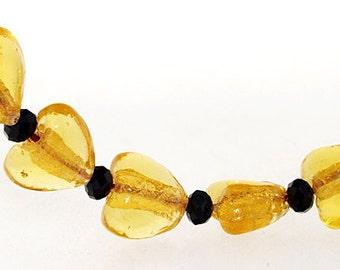 Hole 3mm 5Beads Lampwork beads Heart Coffee beads Handmade jewelry designs  European Style