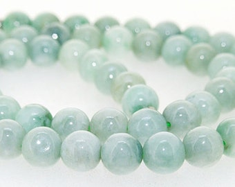 "Round Natural Emerald Beads  Stone Gemstone One Strand beads 18"" 8mm"