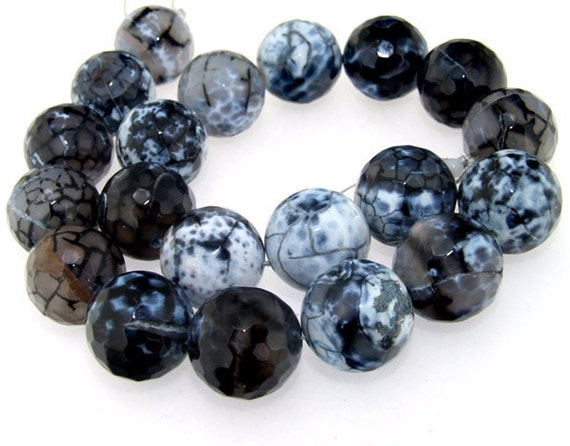 Rare Faceted Agate 20mm Gemstone beads Loose One strand