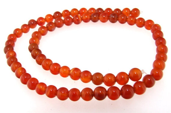 Charm Round Red Agate 6mm Gemstone beads Loose One strand