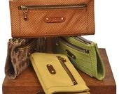 Leather Wallet , Women's, Handmade, named Cronus MADE TO ORDER