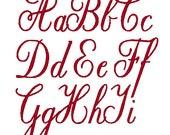 PES ONLY Elegant Curls Font Machine Embroidery Monogram Set 4x4 Hoop