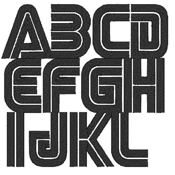 PES ONLY SEGA Font Machine Embroidery Monogram Set 4x4 Hoop