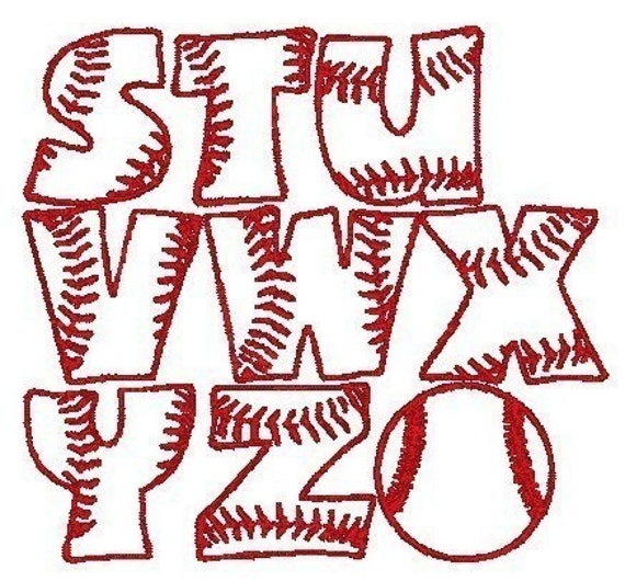 pes only baseball font machine embroidery by embroidereddesign