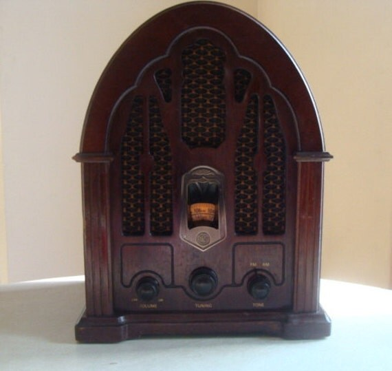 Ge Cathedral Radio Awesome Sound 1932 J100 Reproduction