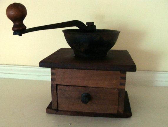 Vintage wooden Coffee Grinder Dove tail joints