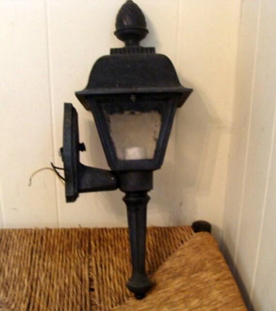 Vintage Hinkley Cast Iron Pineapple Top Porch lantern  USA
