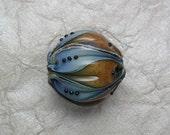 Lotus Pod -  Med. Blue/ Mottled Brown