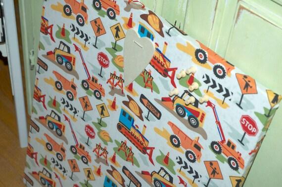 "Bulletin Board Memo Board Large (14 x 20"") Designer Fabric - Organize in Style"