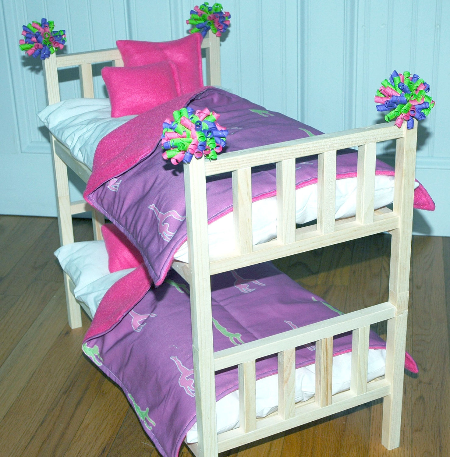Bunk Bed Dolls: Doll Bed McKenna Bunk Bed With Gymnastics Bedding Fits