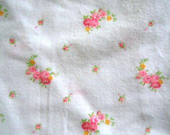 Vintage Shabby Chic Rose Patterned Fabric-2 plus yards