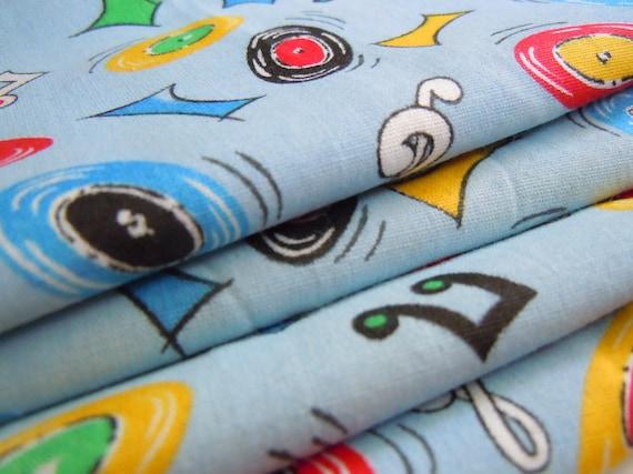 Music Themed Vintage Fabric- 1 Yard