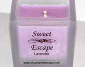 Sweet Escape 1.8oz Lavender Scented Votive Candle in Square Frosted Glass Container Made with All Natural Soy Wax