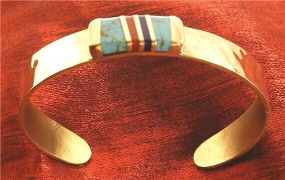 Turquoise Bracelet - Coral Lapis Turquoise Cuff Bracelets BR10