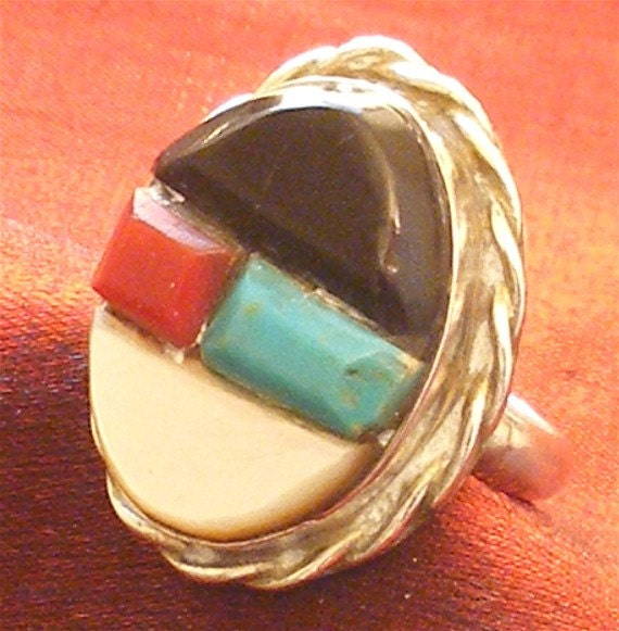 SALE - SIZE 6 & 1/2 - Southwestern Ring in Sterling Silver RG-19